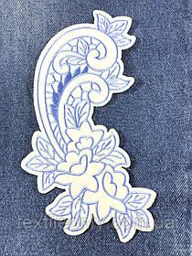 Новогодние декоративные узоры термо цвет белый 200х111мм