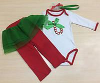 Mag Baby Боди+лосины р62-80 Карамелька красный/зеленый