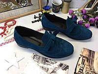 Женские  туфли, натуральная  замша.