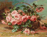 Набор для вышивания крестом Luca-S B547 Корзина с розами