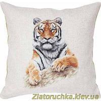 Набор для вышивания крестом подушки Luca-S РВ131 Тигр