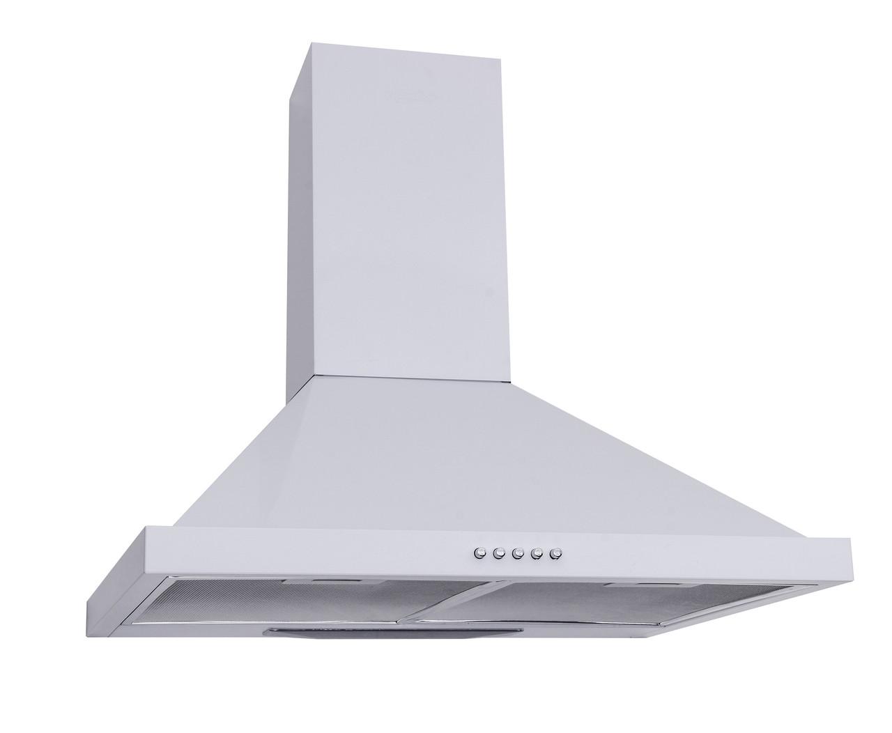 Вытяжка кухонная каминная 60 см белая Ventolux Lazio 60 wh (750)