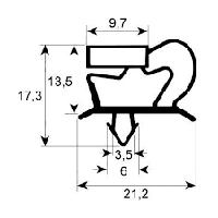 Уплотнитель  для двери холодильного стола Electrolux(372х572 мм)