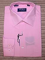 Рубашка для мальчика цветная розовая.