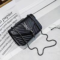 Модная женская сумка Yves Saint Laurent Monogramme Kate черного цвета