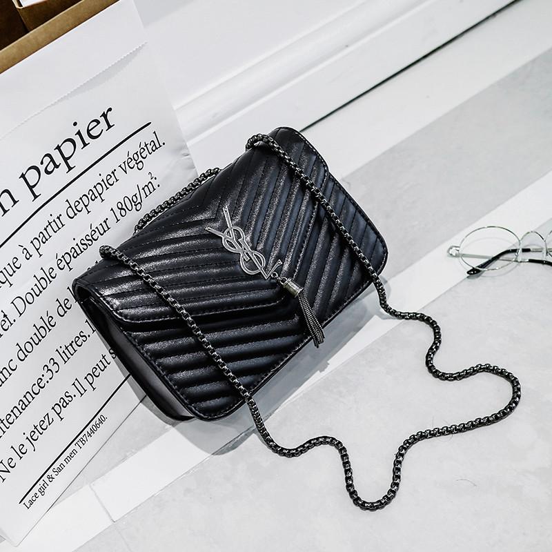 Модная женская сумка Yves Saint Laurent Monogramme Kate черного цвета - ON store в Львове