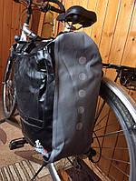 Велосипедная сумка односторонняя на багажник вело штаны 30-60л.