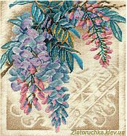 """Набор для вышивания крестом PANNA Ц-1760 """"Прекрасная вистерия"""""""