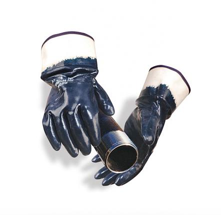 Перчатки нитриловые с жестким манжетом, фото 2