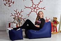 Кресло мешок диван L синий