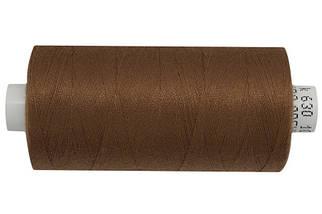 Нитка джинсовая АРЕНА 120 1000 метров. Красно-коричневый - №630, цена за 5 катушек. по 1000 метров.