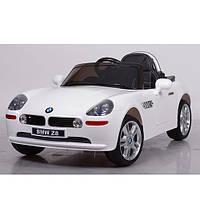 Детский электромобиль JJ1288EBLR-1 белый,мягкие колеса,кожаное сиденье