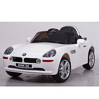 Детский электромобиль JJ1288EBLR-1 белый,мягкие колеса,кожаное сиденье, фото 1