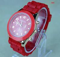 Женские часы Geneva Женева красные, фото 1