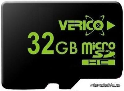 Карта памяти Verico MicroSDHC 32GB UHS-I Class 10 + SD adapter для телефона или планшета
