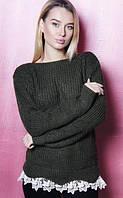 Теплый женский свитер  (цвет хаки) / Женская кофта теплая, модная, удобная