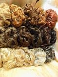 Резинка-шиньон из волос светло-русая 977-12, фото 5