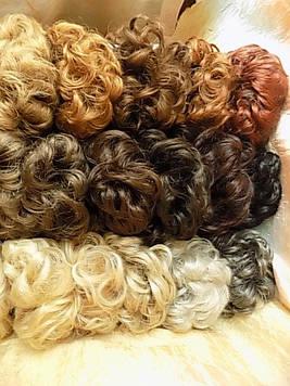 Резинка-шиньон из волос медная 977-27С