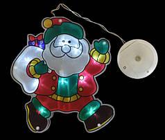 """Наклейка-светильник """"Дед Мороз"""", 19,5*21,5 см"""