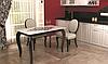 Модели недорогих стеклянных столов Sentenzo на деревянных и хромированных ножках