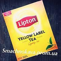 Чай Липтон Черный 100 шт. / Lipton Yellow Label 100 шт.