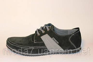 Туфли - мокасины мужские черные Timberland нат. замша реплика
