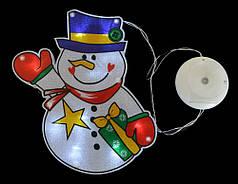 """Наклейка-светильник """"Снеговик"""", 15,6*21 см"""