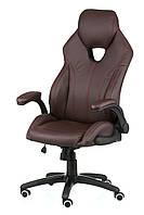 Кресло руководителя, офисное Leader brown коричневое, коричневый