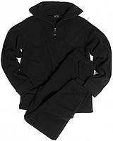Флисовый нательный костюм MIL-TEC черный