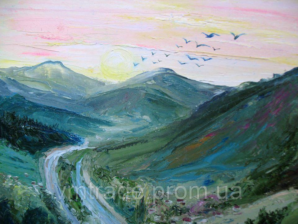 """Картина """"Рассвет в горах"""" 40*50см"""