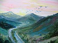 "Картина ""Рассвет в горах"" 40*50см, фото 1"