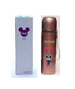 Термос детский YG-2 500ml ( термокружка,термос ),розовый, фото 2
