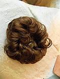 Резинка-шиньон из волос светло-русая 977-12, фото 4