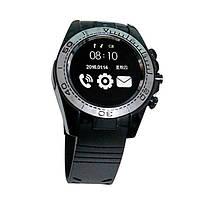 Дизайнерские умные Смарт Часы FROMPRO SW007 черные металлический корпус