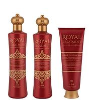 Увлажняющий шампунь + Кондиционер + Маска для сухих и окрашенных волос CHI Farouk Royal Treatment Hydrating