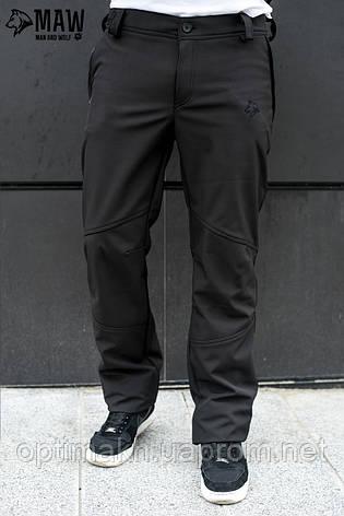 6ac442c712e Soft Shell Мужские тактические брюки софтшелл на флисе влагоустойчевые MAW  man wolf черные