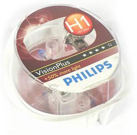 Лампа галогенная Philips Vision Plus H1 +50- Германия (комплект 2шт!)