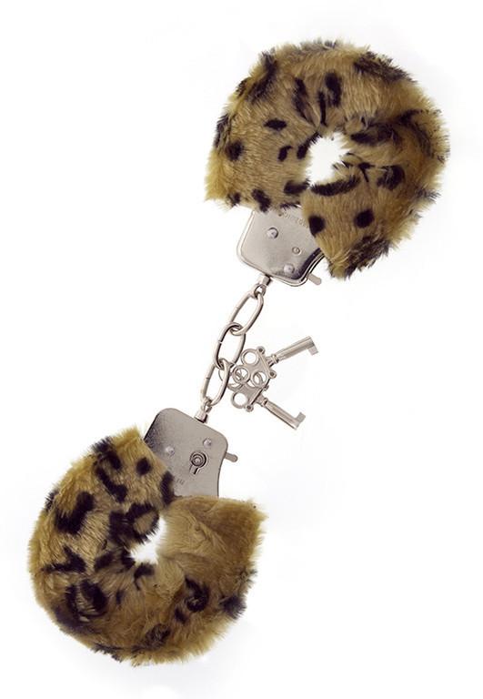 Dream Toys - Наручники, Metal Handcuff with Plush Leopard