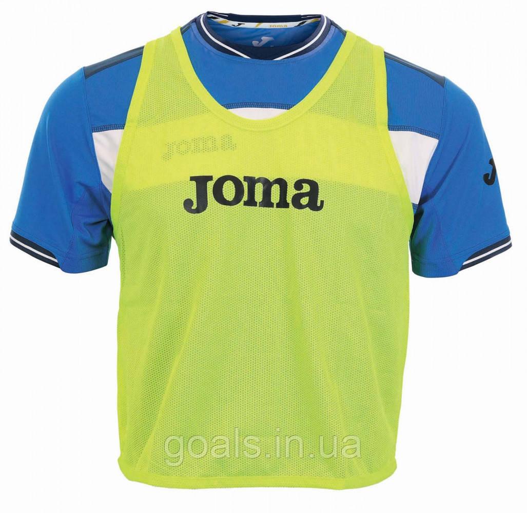 Манишка футбольная для подростков Joma желтая