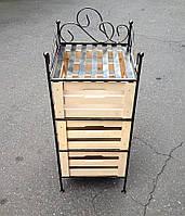 Комод кованый с тремя ящиками 90*36, G-070a