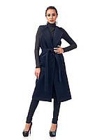 Женский удлиненный жилет из кашемира. Модель Ж004_синий., фото 1
