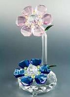 Сувенирный цветок хрусталь