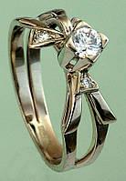 Золотий перстень  з діамантом