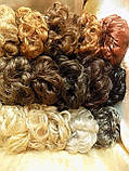 Резинка шиньон из волос песочный блонд  0215А-Н16/613, фото 7