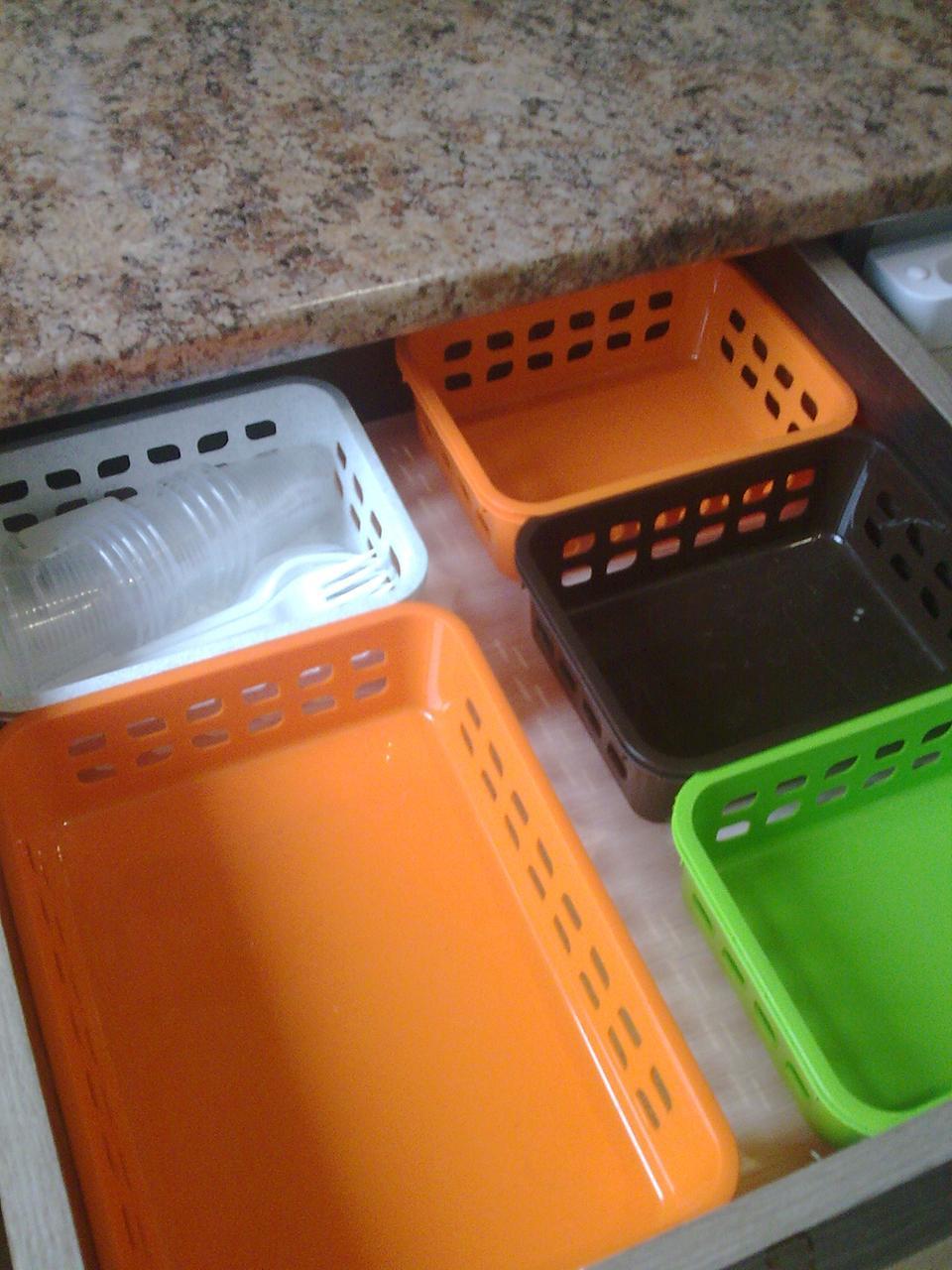 Кухонный лоток-органайзер 25.5х19х6 см