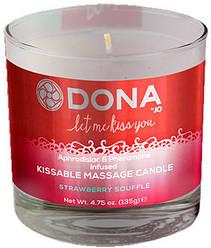 Dona by JO - Свеча для массажа и поцелуев DONA KISSABLE MASSAGE CANDLE STRAWBERRY