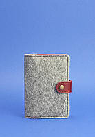 Обложка для паспорта 3.0 кожа + эко-фетр Виноград, фото 1