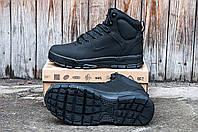 Зимние мужские кроссовки Air Nevist-6 черные 0195