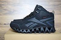 Мужские зимние Ботинки Reebok zigwild черные  Топ Реплика