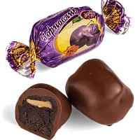 Шоколадные конфеты Чернослив в черном шоколаде с начинкой грецкий орех Skava